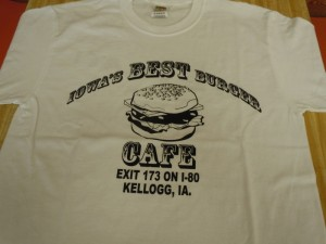 T-Shirt Iowa's Best Burger Cafe